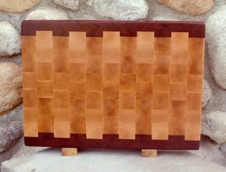 """Cutting Board 17 - 427. Jatoba & Hard Maple. End Grain. 14"""" x 20"""" x 1-1/2""""."""