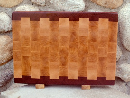 "Cutting Board 17 - 427. Jatoba & Hard Maple. End Grain. 14"" x 20"" x 1-1/2""."