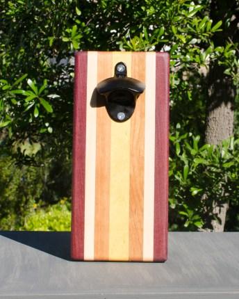 Magic Bottle Opener 17 - 902. Purpleheart, Hard Maple, Cherry & Yellowheart. Single Magic.