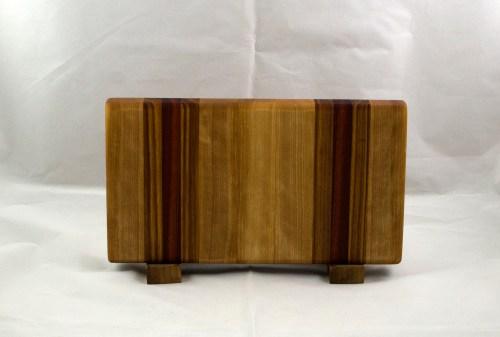 "Small Board 17 - 224. Hard Maple, Canarywood & Bloodwood. 7"" x 13"" x 1-1/8""."