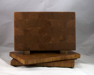 "Small Board 17 - 226. Cherry. End Grain. 7"" x 11"" x 1""."