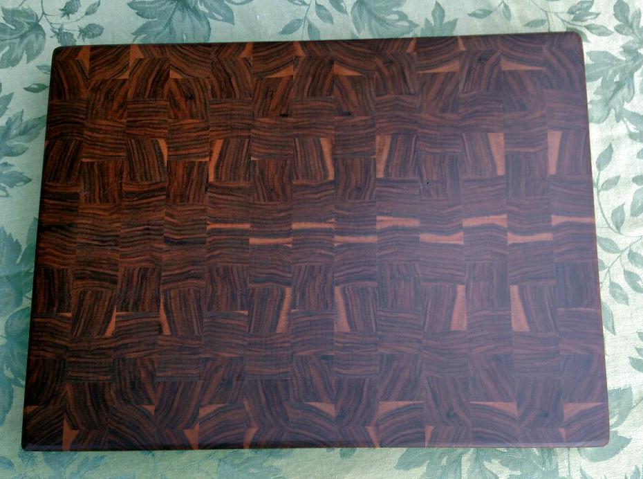 """Cutting Board 17 - 432. End Grain. Black Walnut. 16-1/2"""" x 21-1/2"""" x 1-1/2""""."""