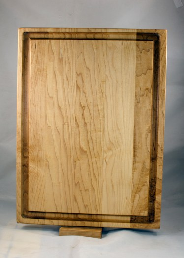 "Carving Board - the beef and pork side. Hard Maple. 14"" x 19"" x 1-1/4""."