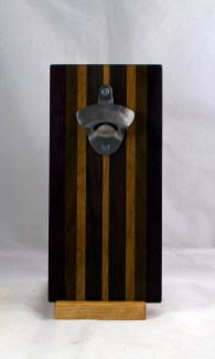 Magic Bottle Opener 17 - 657. Black Walnut, Pau Ferro & Cherry. Double Magic.