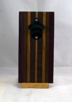 Magic Bottle Opener 17 - 663. Black Walnut, Pau Ferro & Cherry. Double Magic.