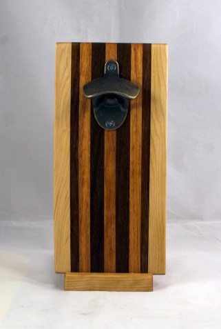 Magic Bottle Opener 17 - 665. Hard Maple, Teak, Canarywood & Pau Ferro. Double Magic.