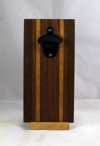 Magic Bottle Opener 17 - 672. Black Walnut, Sapele & Cherry. Double Magic.