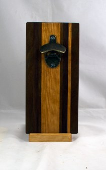 Magic Bottle Opener 17 - 924. Black Walnut, Jatoba & Cherry. Single Magic.