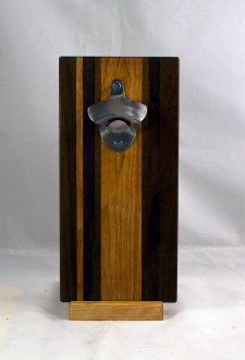 Magic Bottle Opener 17 - 926. Black Walnut, Jatoba & Cherry. Single Magic.