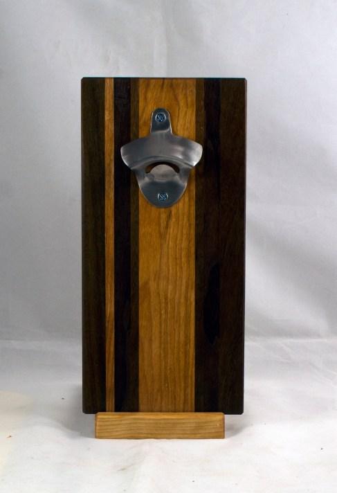 Magic Bottle Opener 17 - 926. Black Walnut, Jatoba & Cherry. Single Magic.