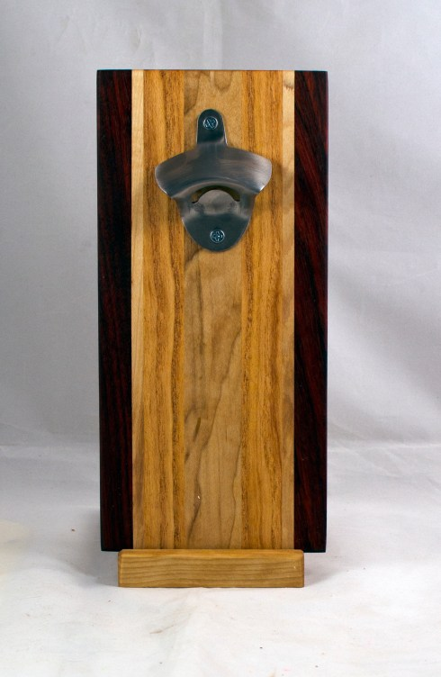 Magic Bottle Opener 17 - 931. Padauk, Hard Maple & Canarywood. Single Magic.