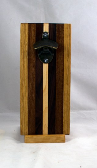Magic Bottle Opener 17 - 932. Red Oak, Jatoba, Pau Ferro & Hard Maple. Single Magic.