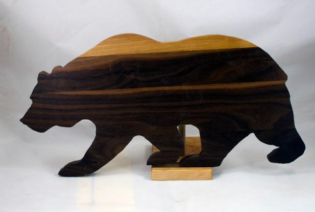 """Bear 17 - 02. Black Walnut. Edge grain. 10"""" x 19"""" x 3/4""""."""