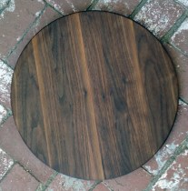 "Lazy Susan 17 - 22. Black Walnut. 18"" diameter."