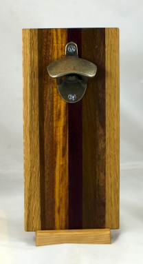 Magic Bottle Opener 17 - 935. Oak, Jatoba, Canarywood, Purpleheart & Black Walnut. Double Magic.