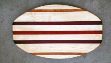 Cheese & Cracker Server 17 - 02. Hard Maple, Canarywood, Purpleheart & Bloodwood.