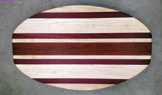 Cheese & Cracker Server 17 - 13. Hard Maple, Purplheart & Jatoba.