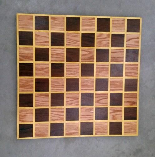 Chess 17 - 306. Red Oak, Jatoba & Yellowheart.