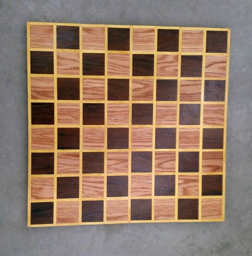 Chess 17 - 306. Red Oak, Jatoba & Yellowheart.