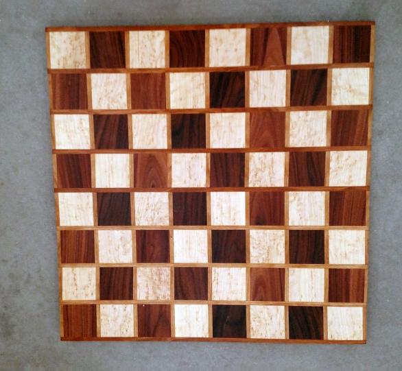 Chess 17 - 313. Birds Eye Maple, Pau Ferro & Cherry.