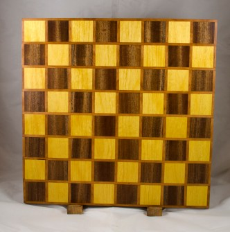 Chess Board 17 - 315. Cherry, Yellowheart & Sapele.