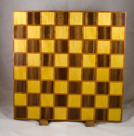 Chess Board 17 - 315. Cherry, Yellowheart & Sapele.