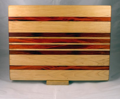 "Cutting Board 17 - 139l 14"" x 18"" x 1-1/4"". Hard Maple & Padauk."