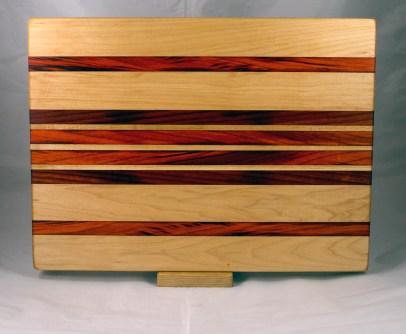 "Cutting Board 17 - 139l 14"" x 18"" x 1-1/4"". Hard Maple & Padauk."