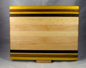 Cutting Board 17 - 141. Yellowheart, Canarywood, Hard Maple & Jatoba.