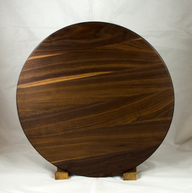 Lazy Susan 17 - 23. Black Walnut.