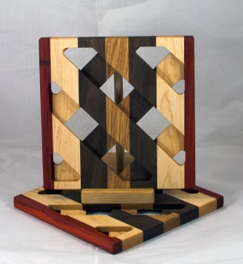Trivet 17 - 17. Padauk, Hard Maple, Black Walnut & Oak.