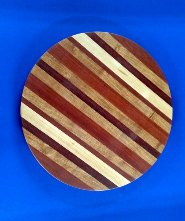 Lazy Susan 18 - 07. Bloodwood, Hickory, Mesquite & Black Walnut.