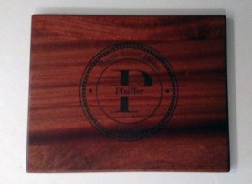 Engraved 18 - 001. Sapele. Commissioned piece.