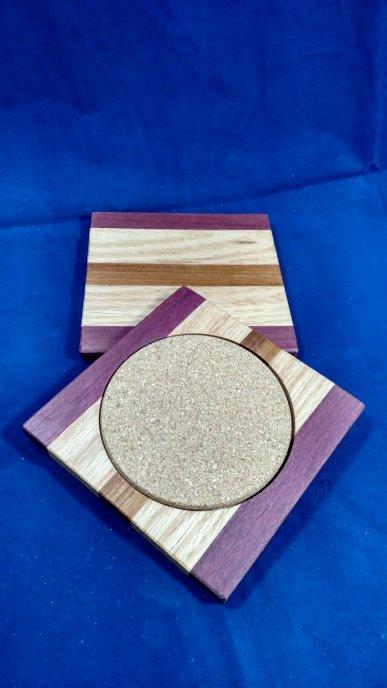 Coasters 18 - 10. Purpleheart, Oak & Jatoba.