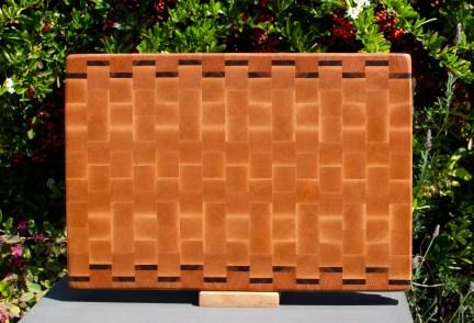 """Cutting Board 18 - 715. Cherry, Black Walnut & Hard Maple. End grain. 12"""" x 17"""" x 1-1/4""""."""