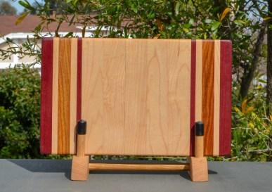 "Small Board 18 - 203. Purpleheart, Hard Maple & Canarywood. 7"" x 12"" x 1-1/4""."
