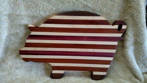 Pig 18 - 603. Black Walnut, Hard Maple, Purpleheart & Bloodwood.