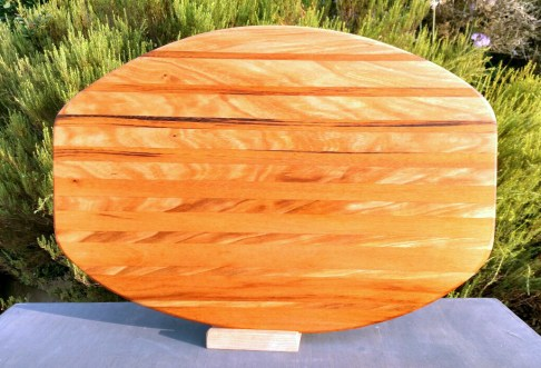 "Large Serving Piece 18 - 07. Cherry & Goncalo Alves. 13"" x 19"" x 1-1/4""."
