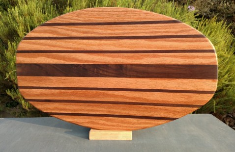 Large Serving Piece 18 - 19. Red Oak & Black Walnut.