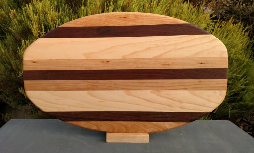 Large Serving Piece 18 - 18. Cherry, Black Walnut & Hard Maple.