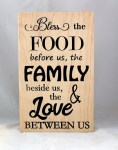 CNC Sign 18 – 112 Bless The Food