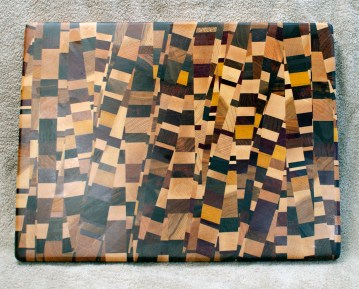 Cutting Board 18 - 724. 18 species are in this board! End Grain. Chaos Board.