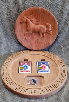 Cribbage 18 - 11. Cherry top, Hard Maple bottom.