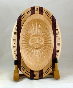 Cribbage 18 - 18. Hard Maple, Jatoba, Purpleheart. 3 track bottom.