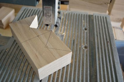 """My benchtop bandsaw gets the job done, almost, on this 1-1/2"""" stock. If only I had room for a real band saw...."""