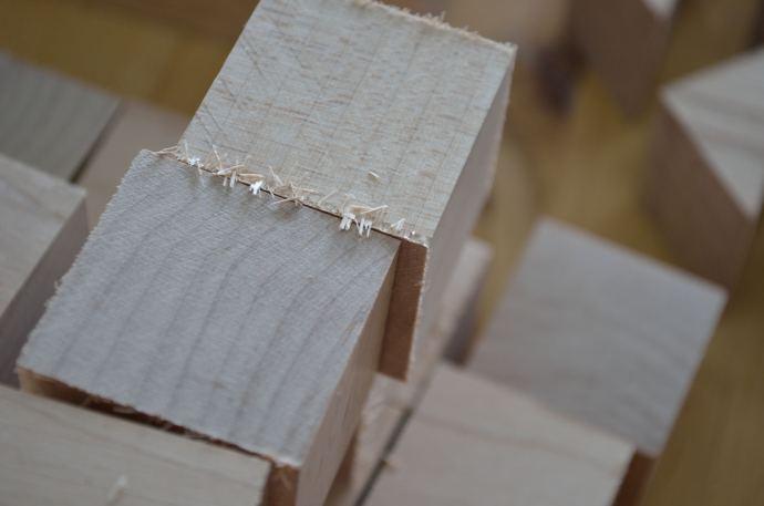 Blocks need edge sanding.