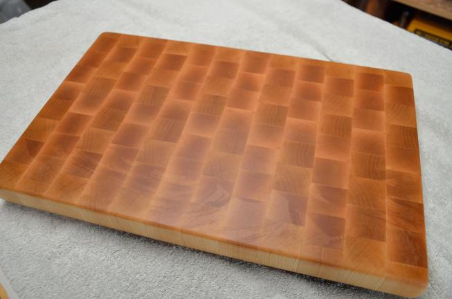 # 61 Cutting Board, $100 - $150, depending on size. Hard Maple end grain.