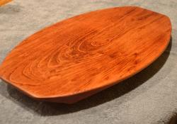 "Commissioned piece. Jatoba cheese server - the surfboard design. 12"" x 19"" x 1-1/4""."