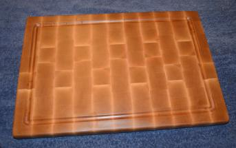 """Cutting Board 15 - 025. Hard Maple, end grain, with a juice groove. 13"""" x 18"""" x 1""""."""