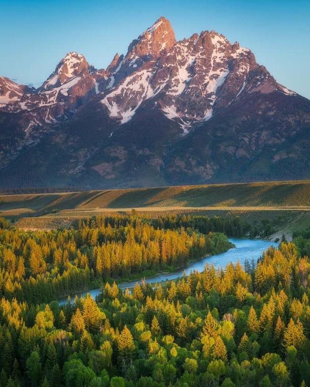 Dreaming of warmer days & stunning views like this picture of Grand Teton National Park. Photo by Scotty Perkins. Tweeted by the US Department of the Interior, 3/25/15.